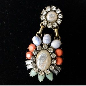 Jewelry - BRAND NEW Cabochon and Chrystal STATEMENT Earrings